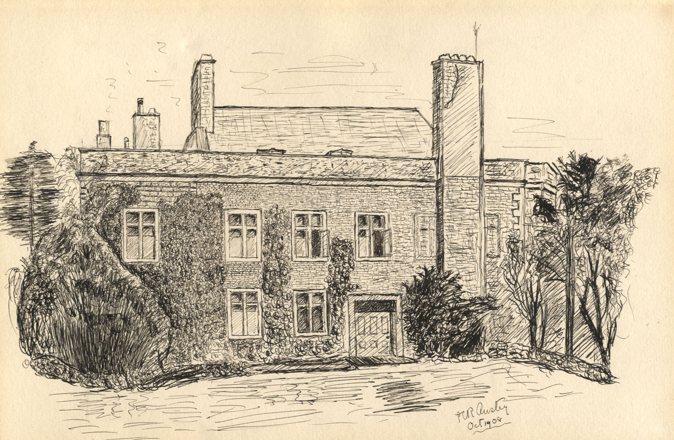 Christopher Anstey 1908 Pen And Ink Drawing