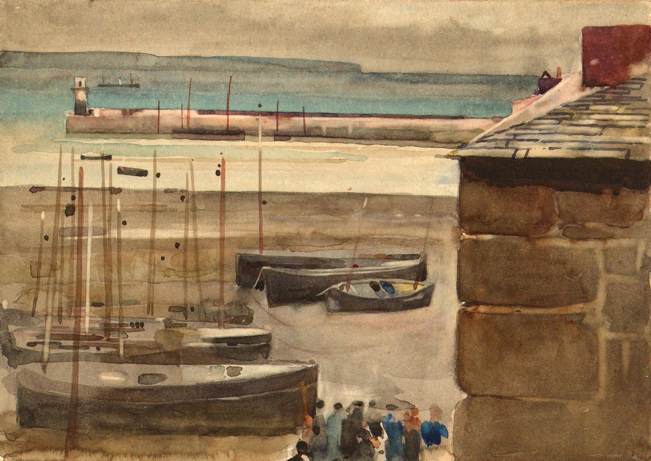 Frank Richards RBA (1863-1935) Newlyn School - Watercolour Sketch