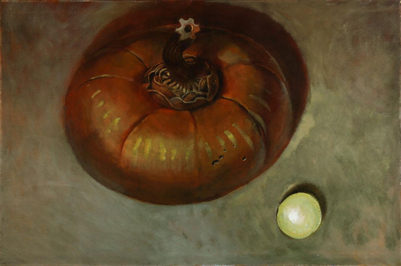 Julian Gordon Mitchell - Large Contemporary Oil, Autumn Fruit Composition
