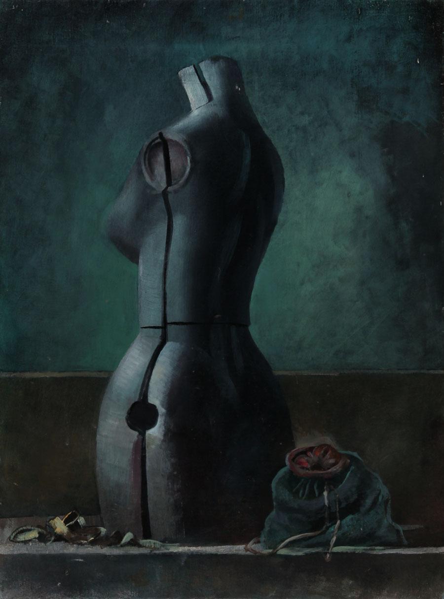 Julian Gordon Mitchell - Contemporary Oil, Still Life with Tailor's Dummy