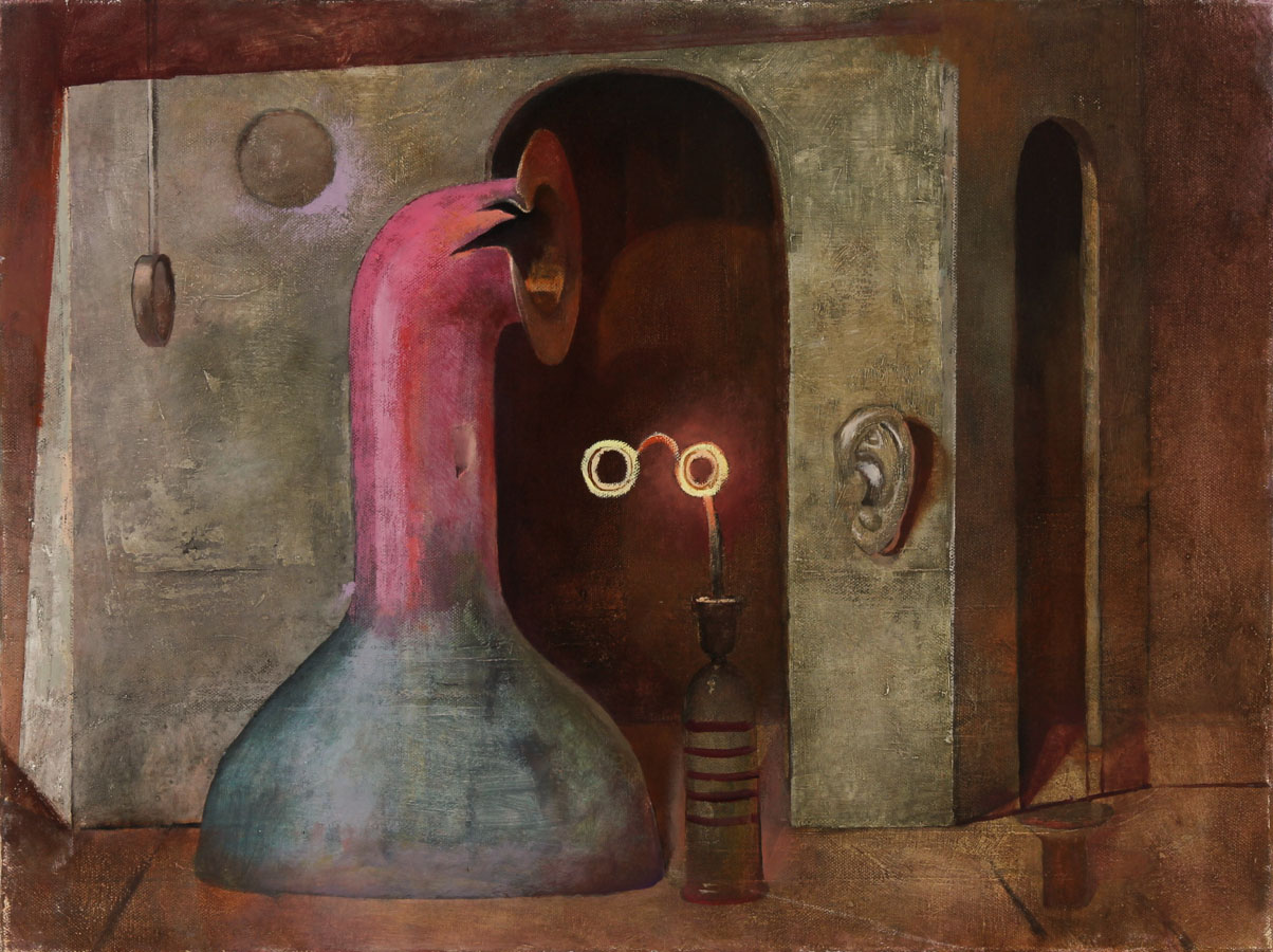 Julian Gordon Mitchell - Contemporary Oil, Surrealist Interior