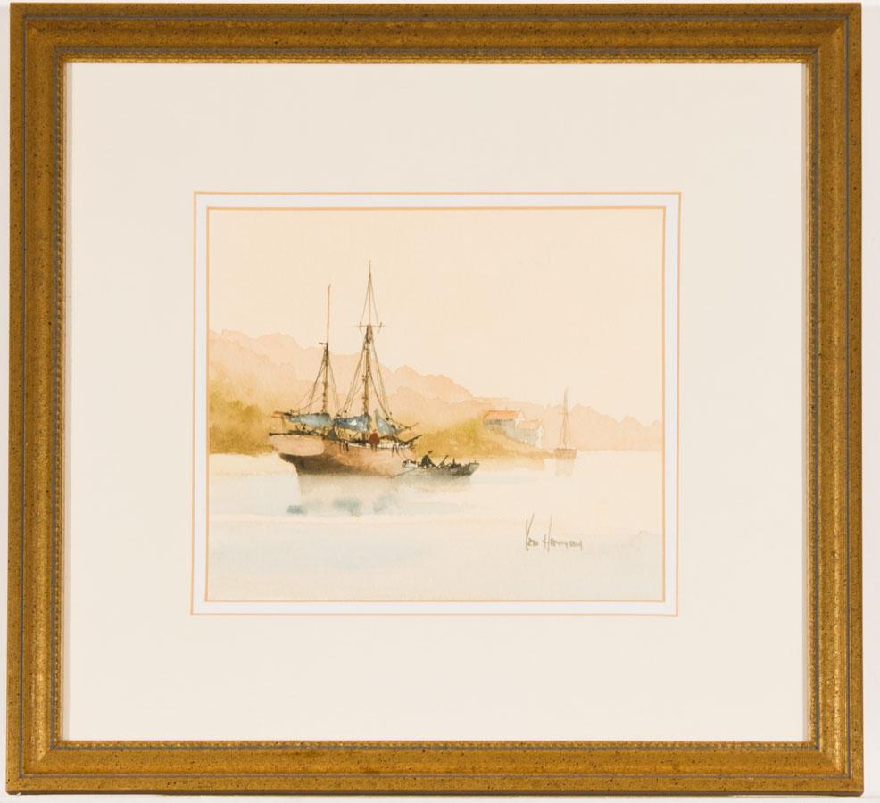 Ken Hammond (b.1948) - Signed Contemporary Watercolour, Coastal Scene