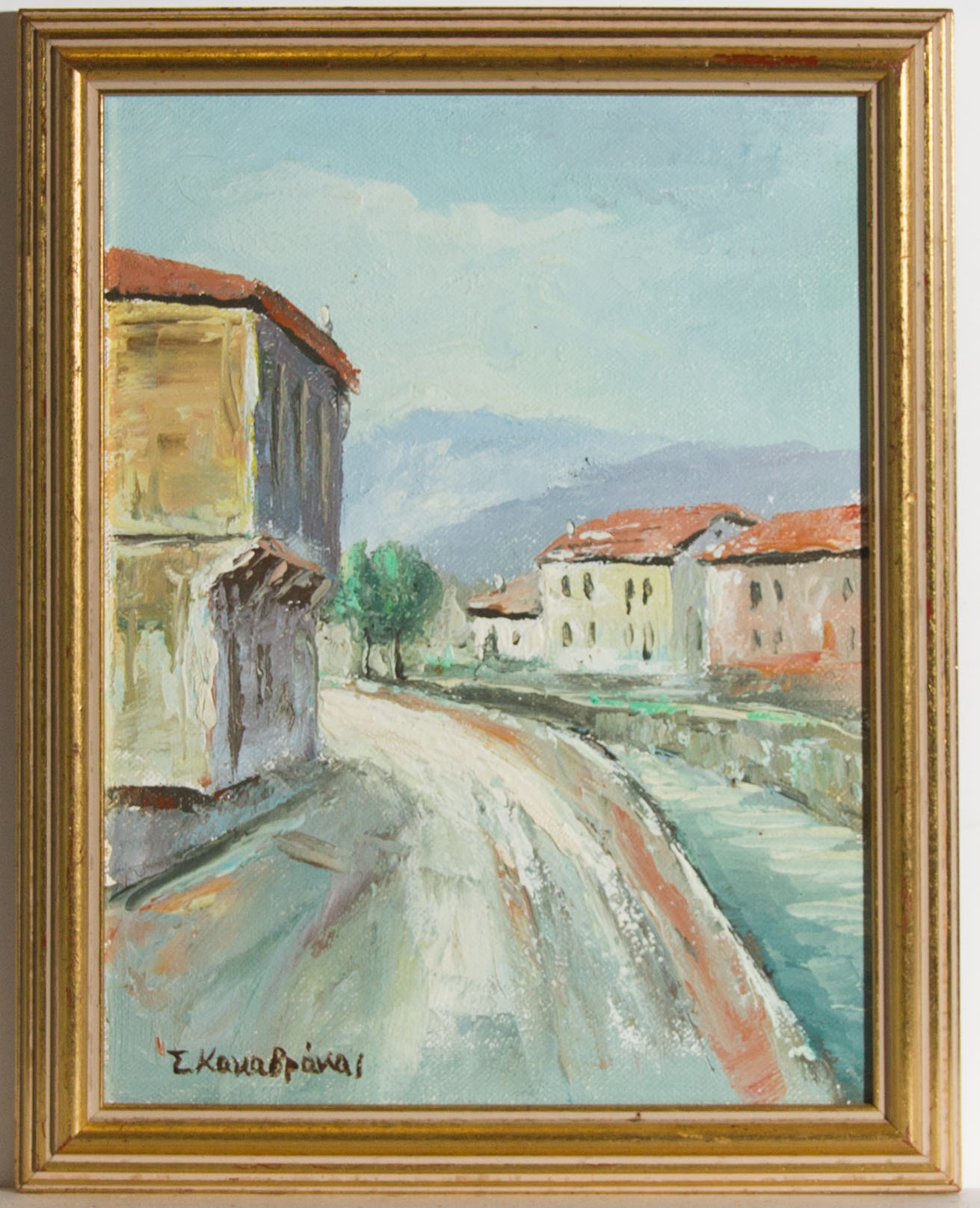 Signed Contemporary Acrylic - Street View