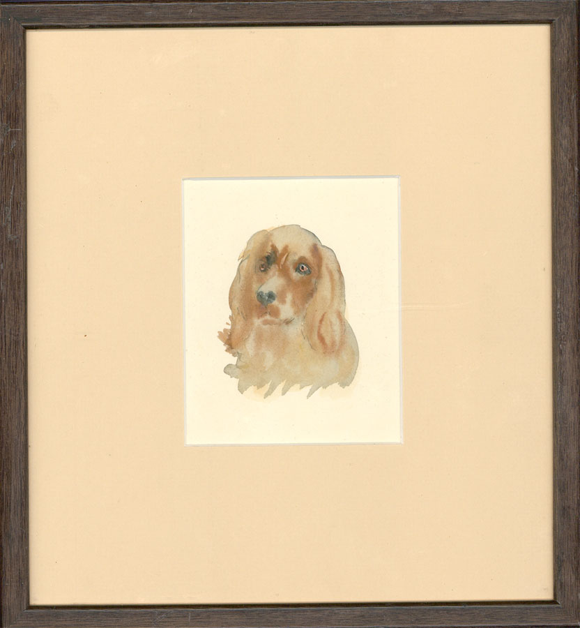 Fine Framed Mid 20th Century Watercolour - Dog