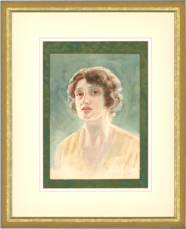 L. Graham Smith - Signed Early 20th Century Watercolour, Portrait of a Lady