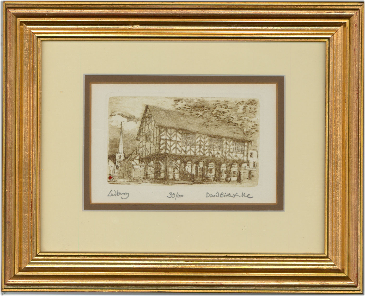 David Birtwhistle - Signed and Framed Contemporary Etching, The Market House