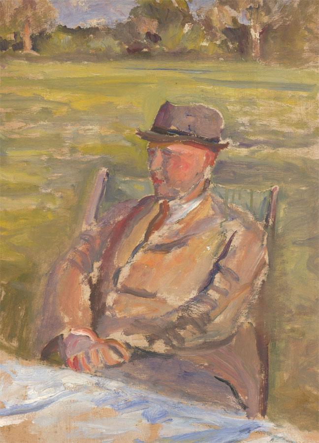 Jean Dryden Alexander (1911-1994) - 1931 Oil, Grandpa Alexander