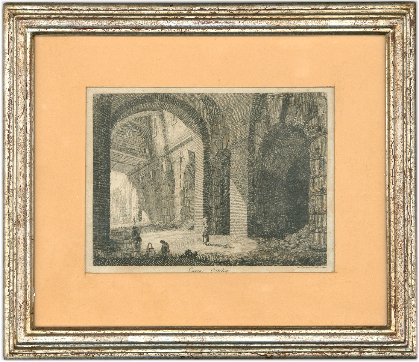 Antonio Acquaroni - Framed Early 19th Century Etching, Curio Ostilia