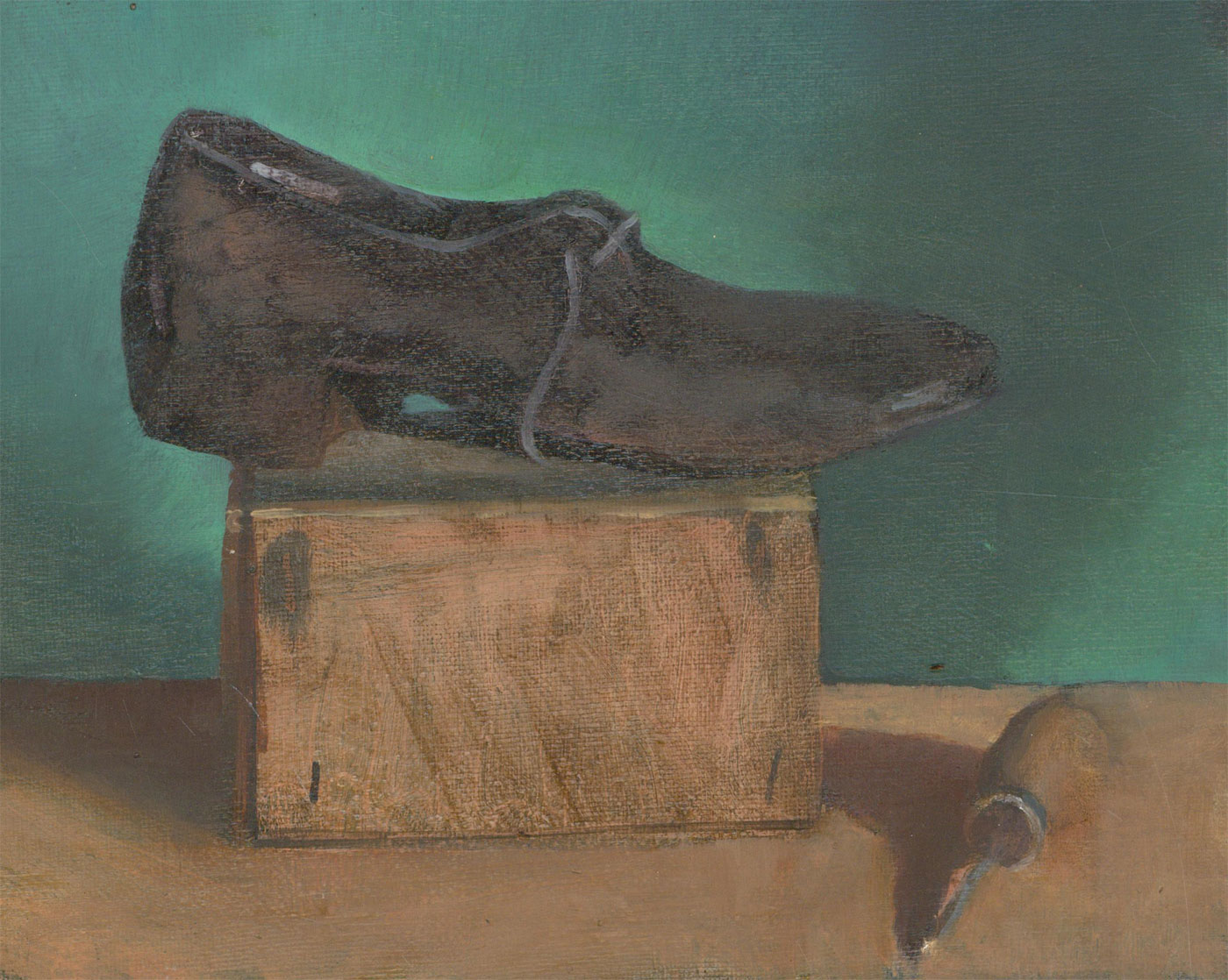 Julian Gordon Mitchell (b. 1968) - Contemporary Oil, Study of a Shoe, 'At the Cobblers'