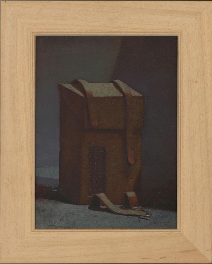 Julian Gordon Mitchell (b. 1968) - Oil, Leather Camera Case in Interior