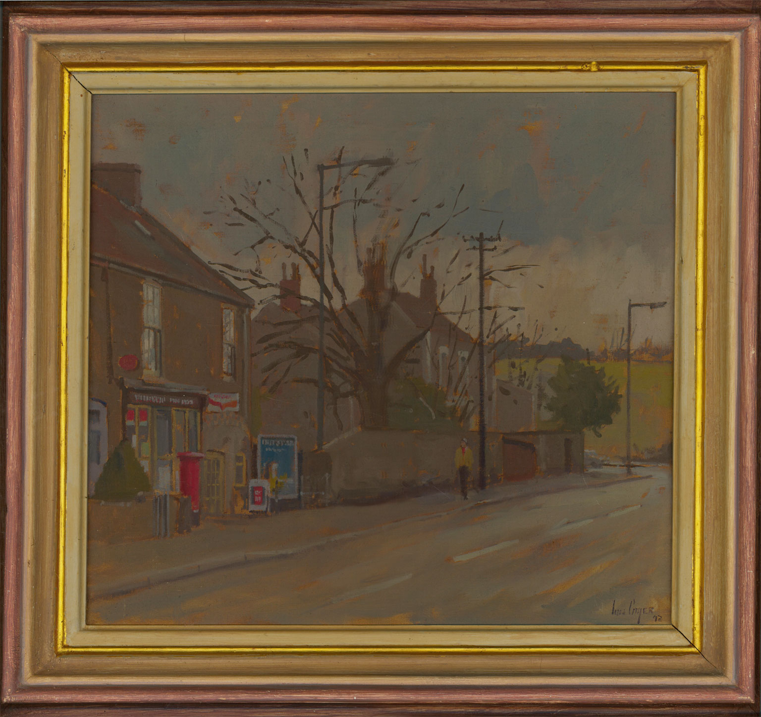 Ian Cryer PPROI (b.1959) - Signed & Framed Contemporary Oil, The Post Office