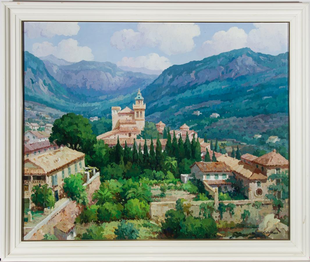 Caballero - Signed & Framed 20th Century Acrylic, Valldemosa, Mallorca