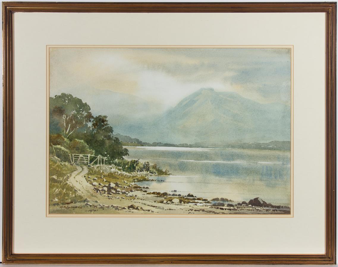 Keith Burtonshaw (1930-2008)  - Mid 20th Century Watercolour, Misty Lake Scene
