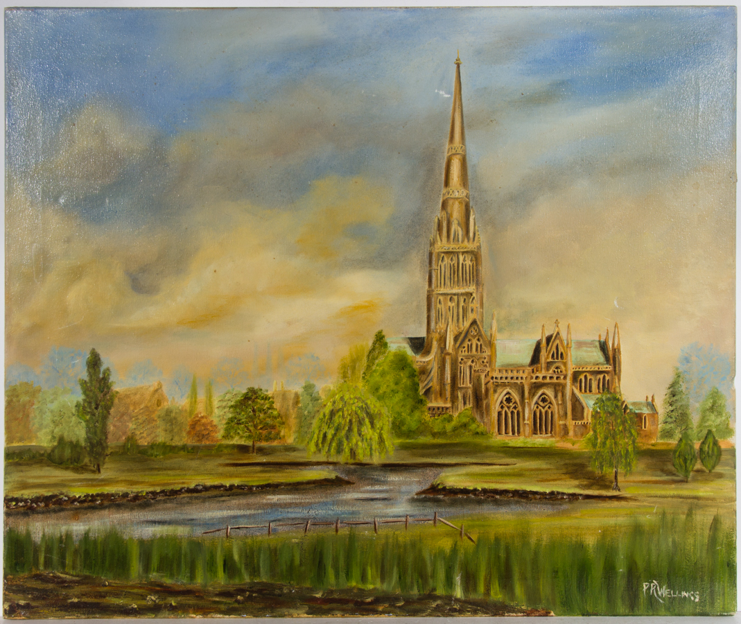 P.R. Wellings - 20th Century Oil, Salisbury Cathedral