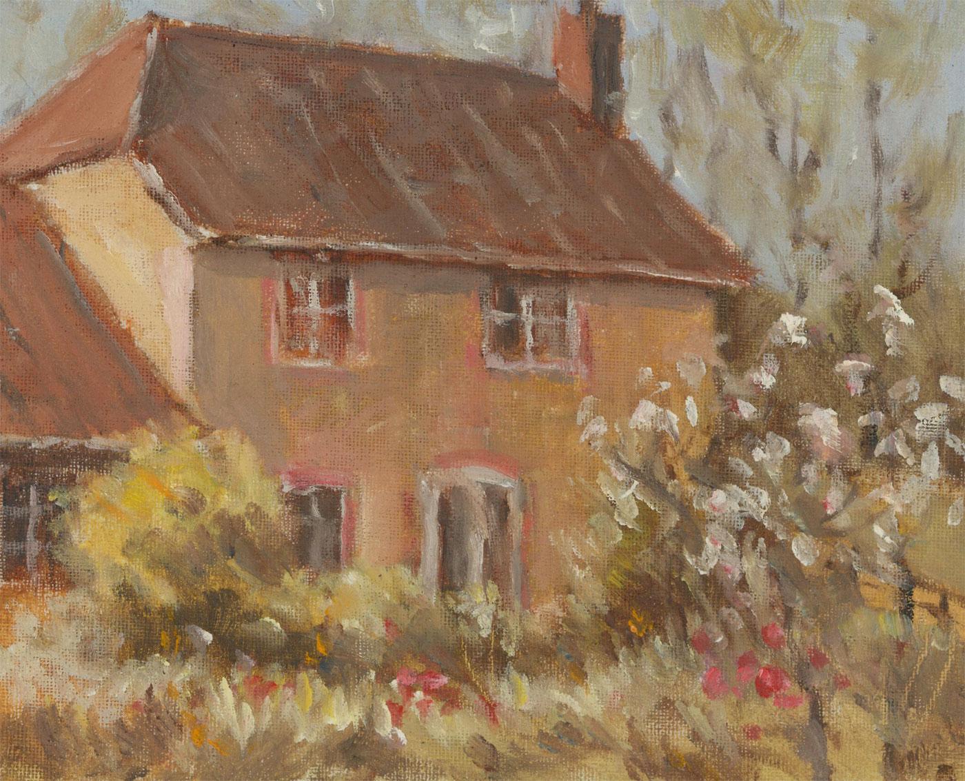 John A. Case - 20th Century Acrylic, A Rural Cottage