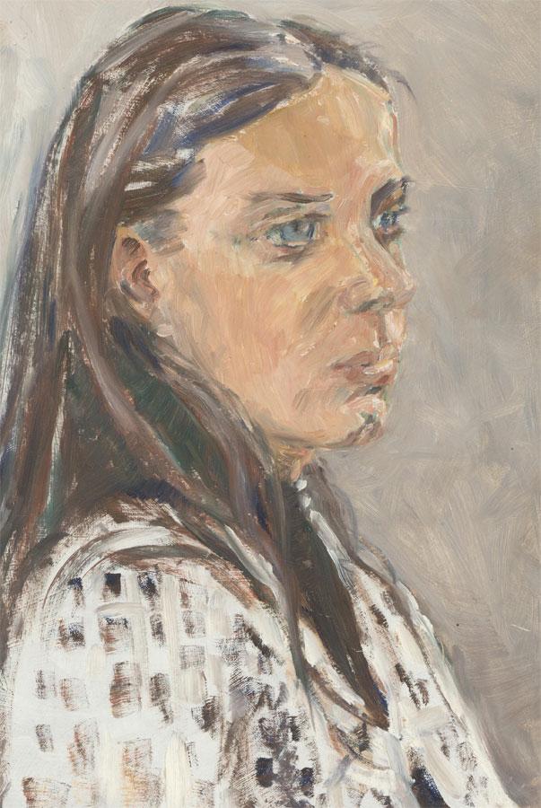 Peter Barrie Gross RBSA (1924-1987) - Signed Century Oil, Portrait of a Woman