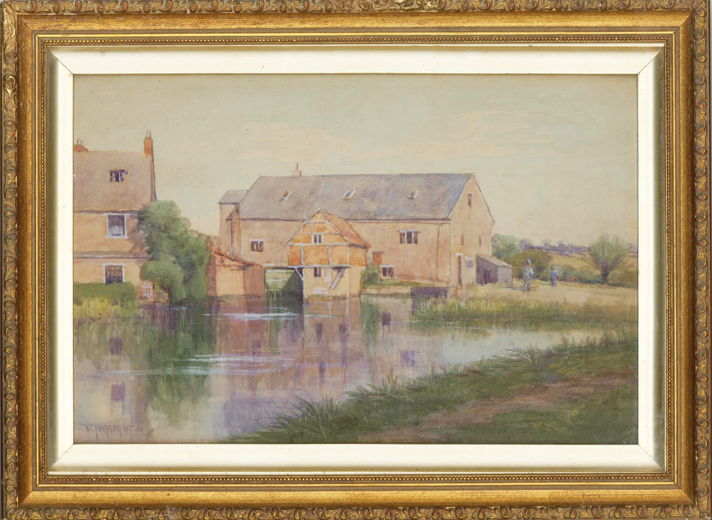 William T. Wright (1851–1917) - Signed & Framed Watercolour, The Water Mill