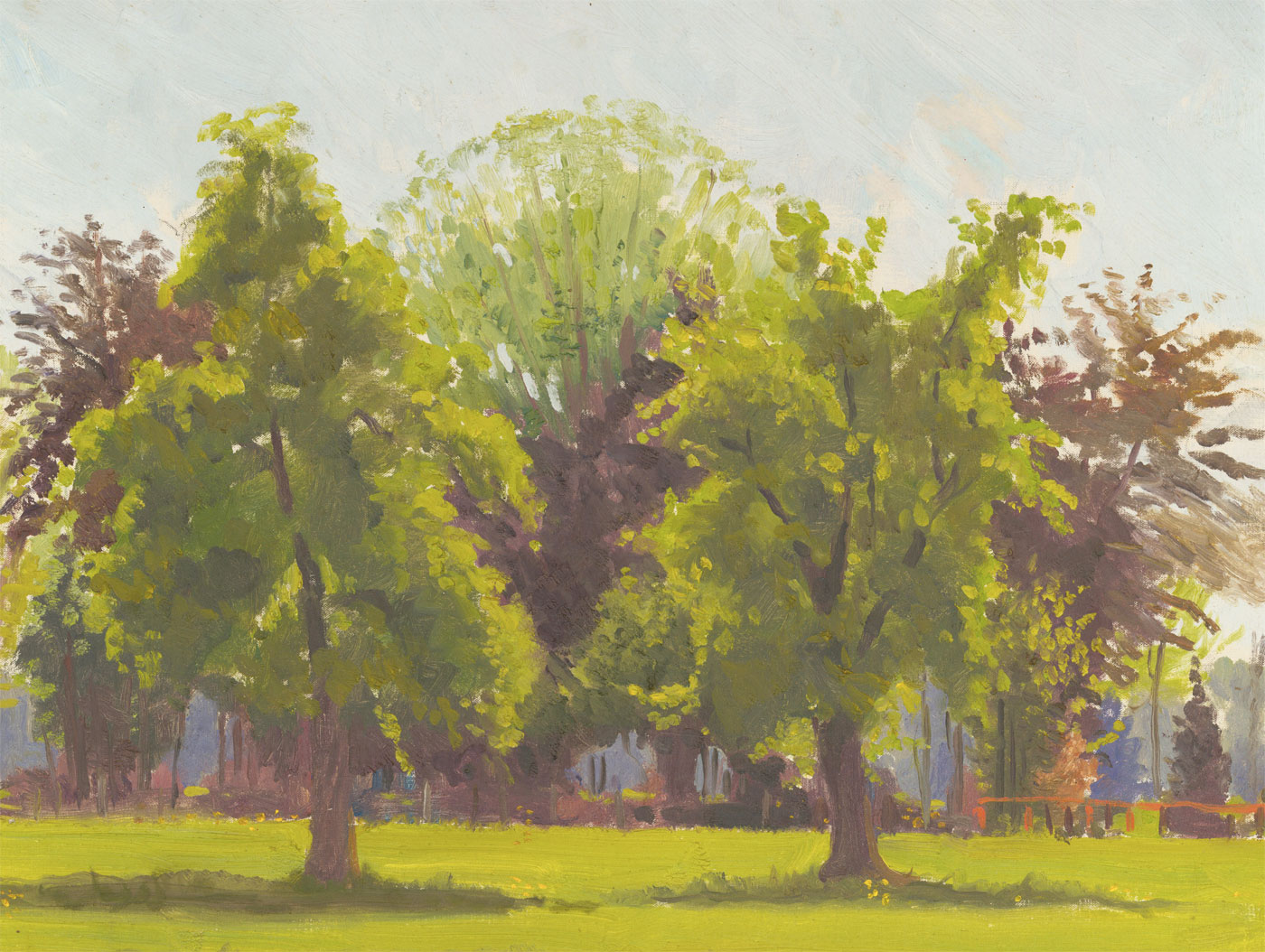 John Whitlock Codner RWS (1913-2008) - Signed 1975 Oil, The Old Orchard