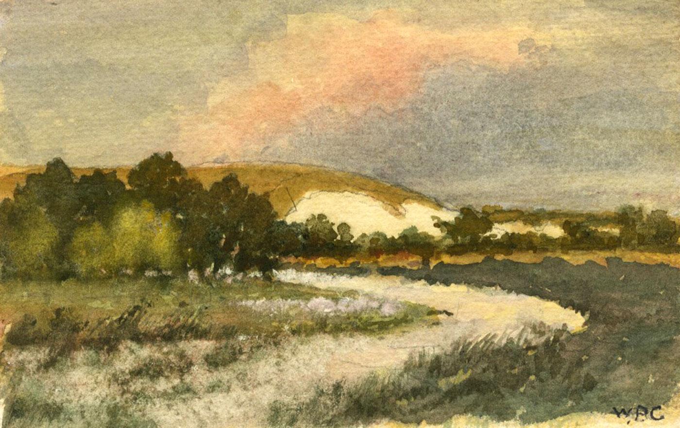 William Permeanus Cornish - Early 20th Century Watercolour, A Sussex Chalk Pit