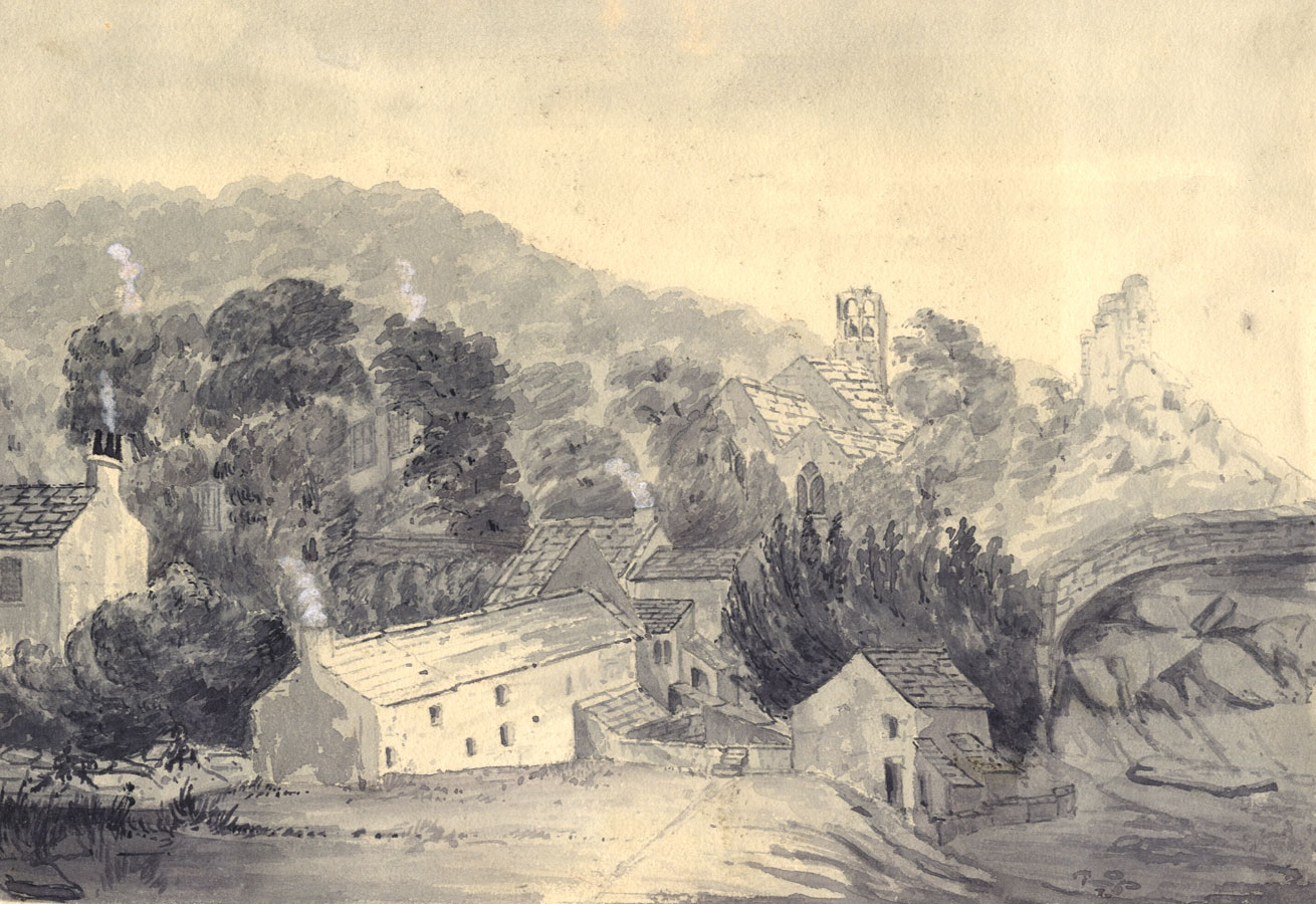 From the Baines Family Archive - 20th Century Watercolour, Landscape with Town