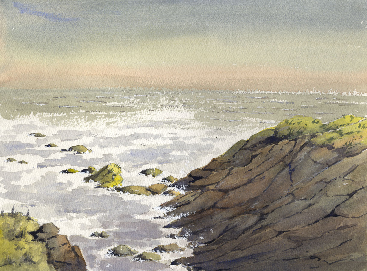 Duncan Russell - Contemporary Watercolour, Seascape