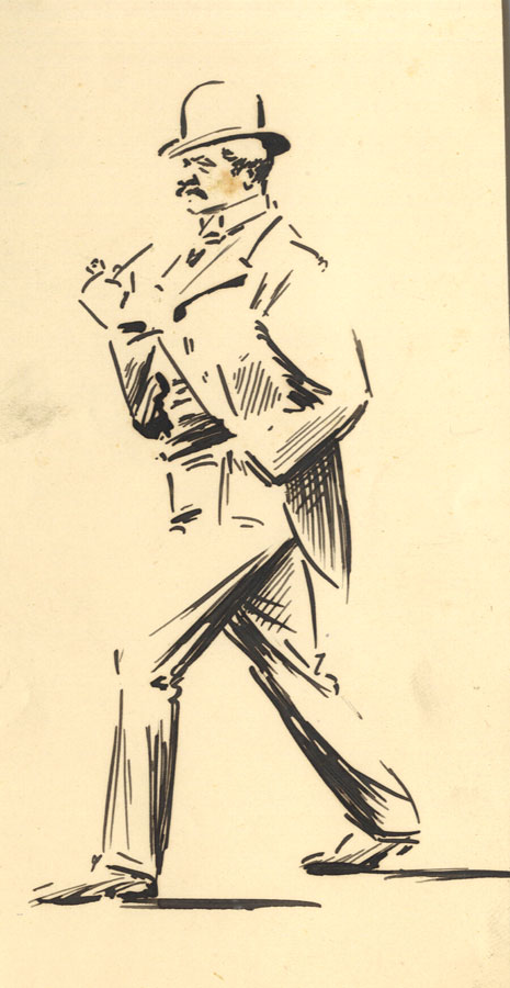 Set of 4 Late 19th Century Pen and Ink Drawing - Figure Studies