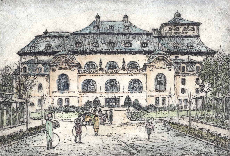 Contemporary Etching - Kaiser-Friedrich-Halle