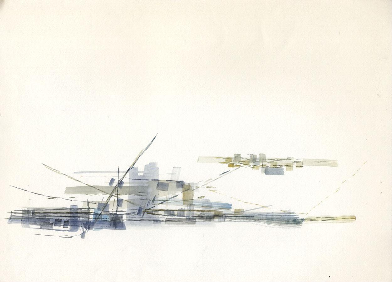 Birgit Skiold (1923-1982) - Watercolour, Abstract Form