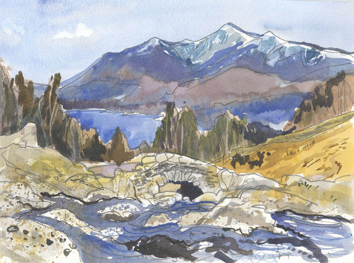 Robert T. Blayney (1929-2016) - Mid 20th Century Watercolour, Mountain View