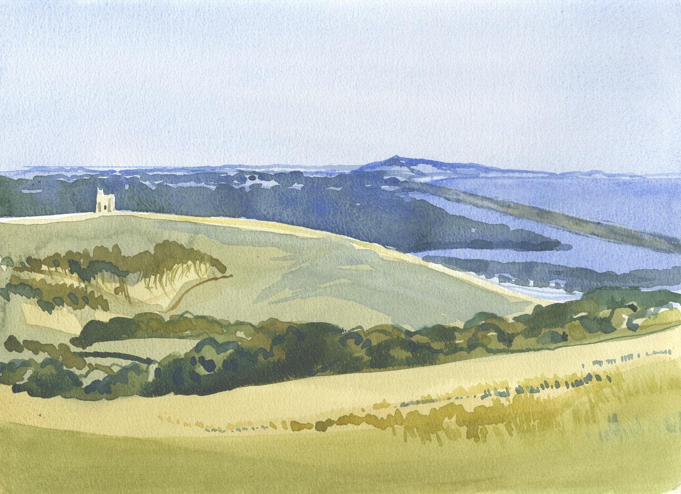 Robert T. Blayney (1929-2016) - Mid 20th Century Watercolour, Rural Landscape