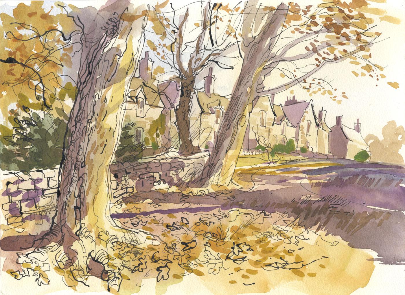 Robert T. Blayney (1929-2016) - Mid 20th Century Watercolour, Autumnal View