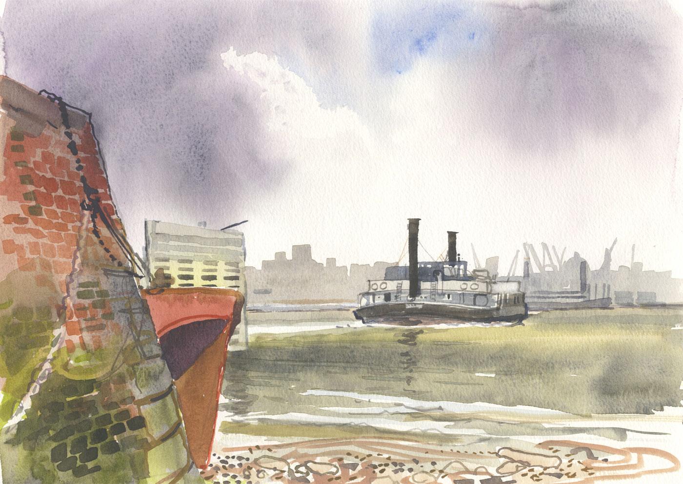 Robert T. Blayney (1929-2016) - Mid 20th Century Watercolour, Port View