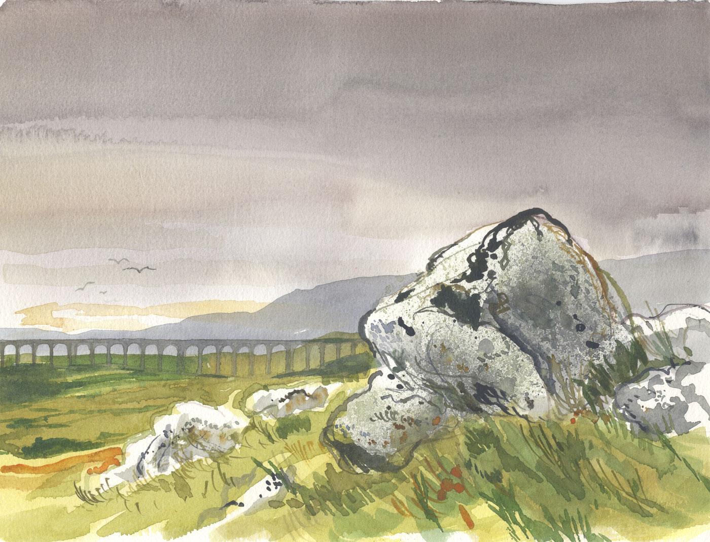 Robert T. Blayney (1929-2016) - Mid 20th Century Watercolour, Rock View