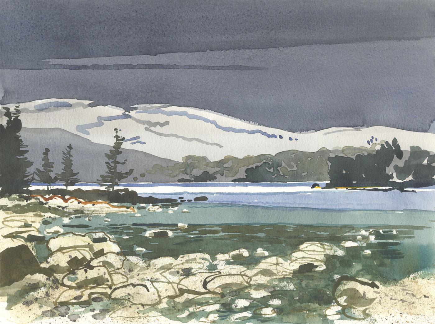 Robert T. Blayney (1929-2016) - Mid 20th Century Watercolour, Lake Landscape