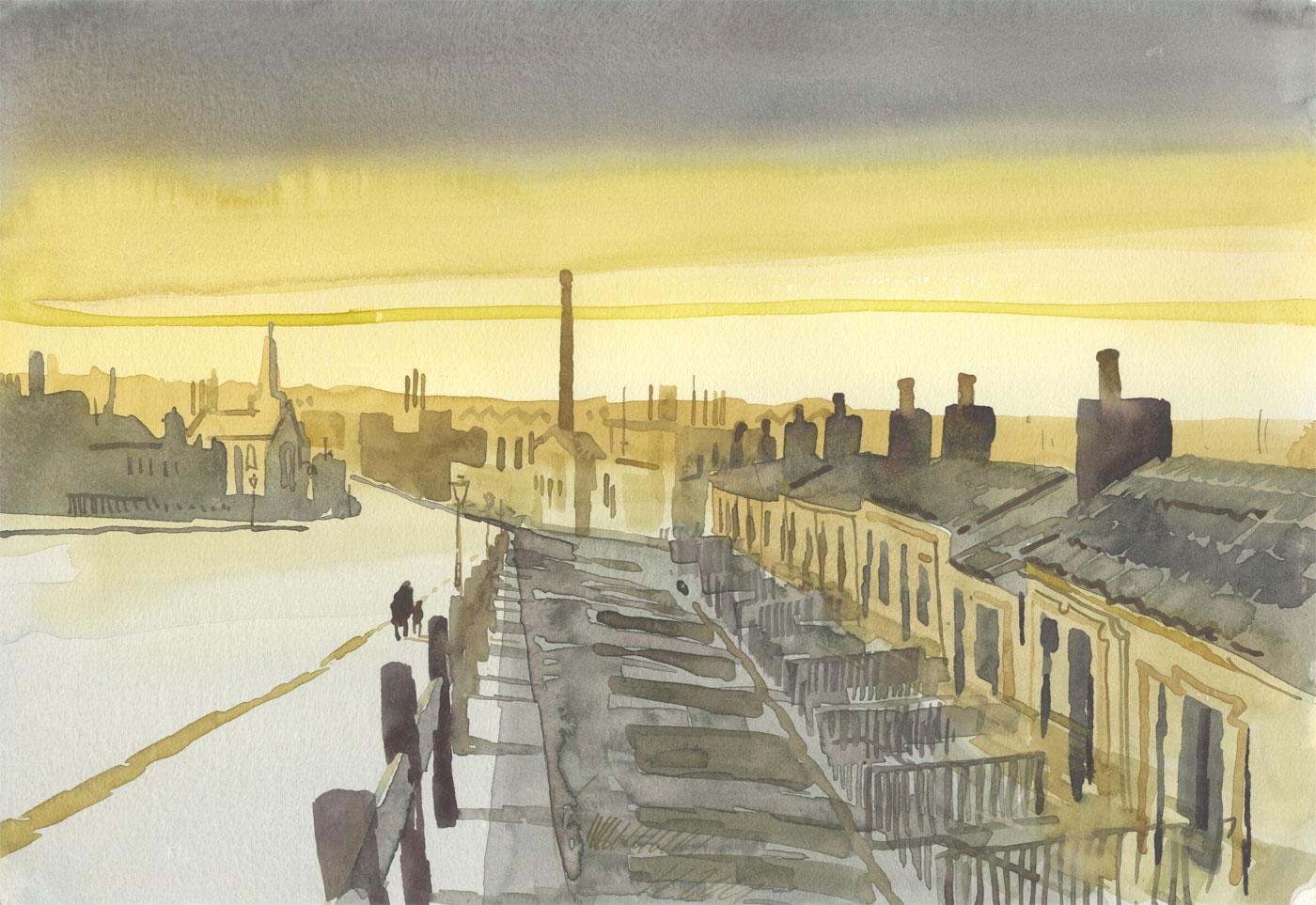 Robert T. Blayney (1929-2016) - Mid 20th Century Watercolour, Yellow Skies