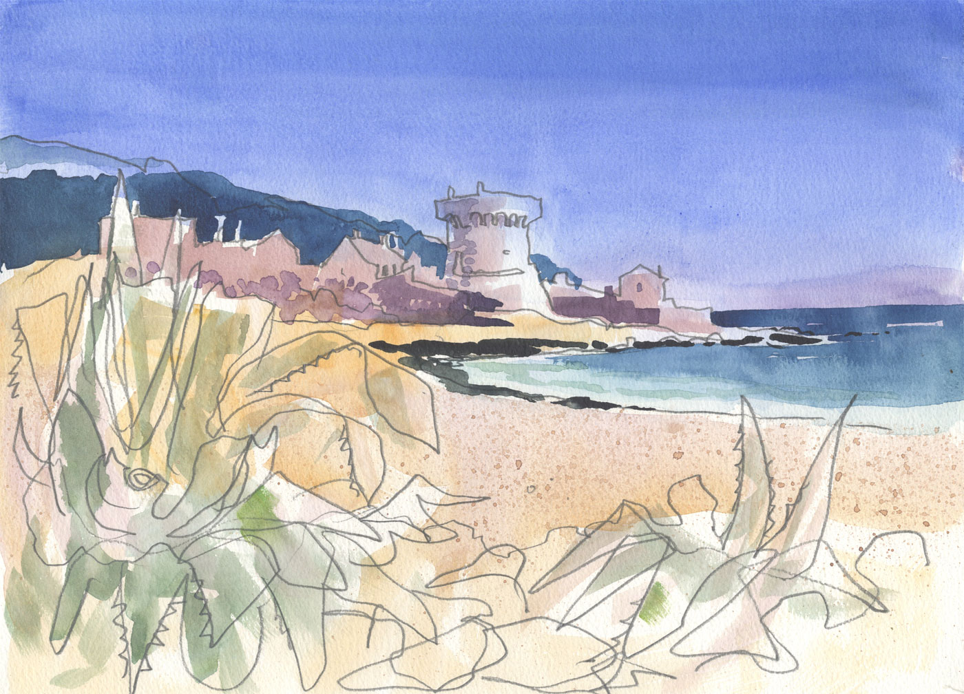 Robert T. Blayney (1929-2016) - Mid 20th Century Watercolour, Coastal View