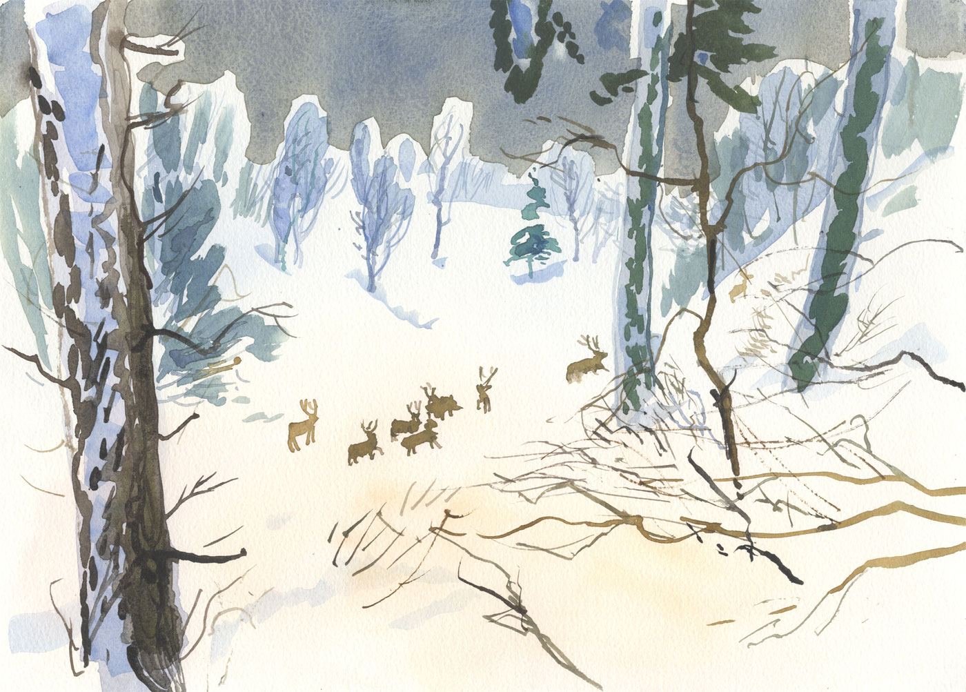 Robert T. Blayney (1929-2016) - Mid 20th Century Watercolour, Winter Landscape