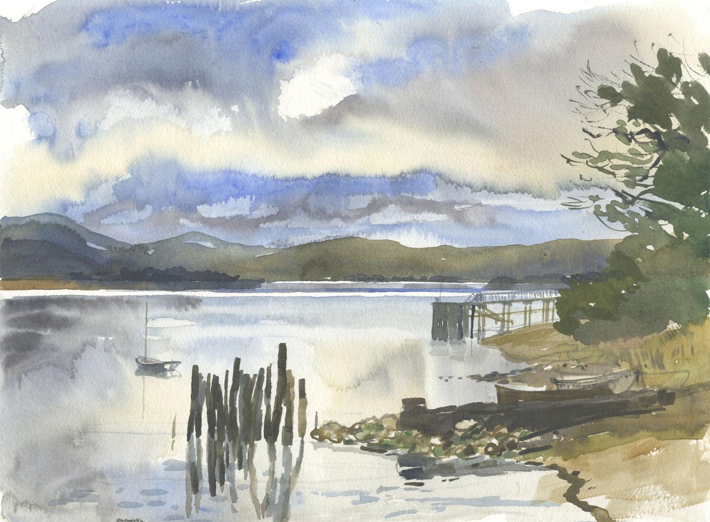 Robert T. Blayney (1929-2016) - Mid 20th Century Watercolour, Lakeside