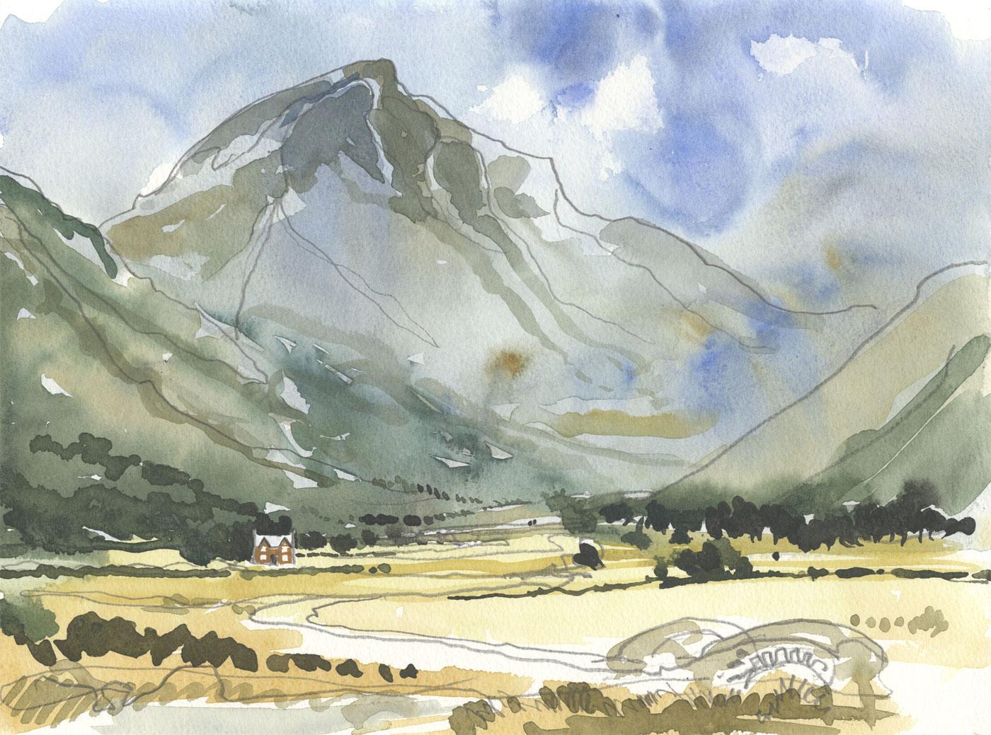 Robert T. Blayney (1929-2016) - Mid 20th Century Watercolour, Mountain Landscape