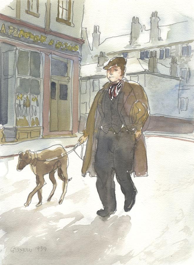Robert T. Blayney (1929-2016) - 1939 Watercolour, Glasgow