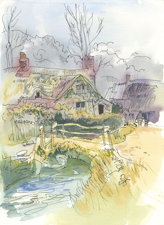 Robert T. Blayney (1929-2016) - Mid 20th Century Watercolour, Cottage View