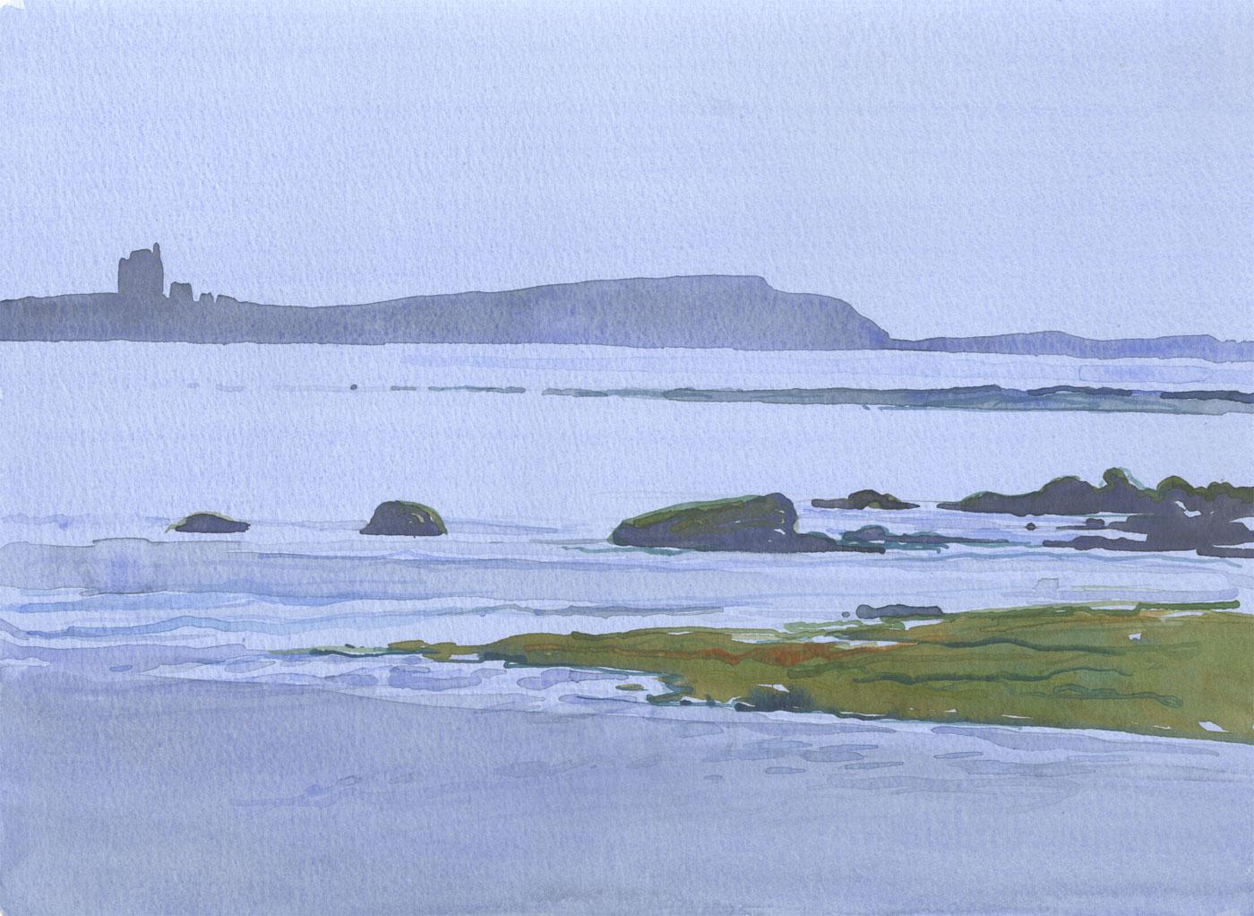 Robert T. Blayney (1929-2016) - Mid 20th Century Watercolour, Calm Seas