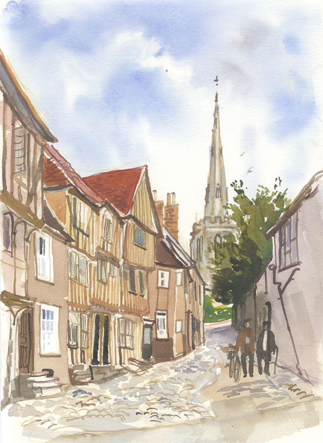 Robert T. Blayney (1929-2016) - Mid 20th Century Watercolour, Cathedral View