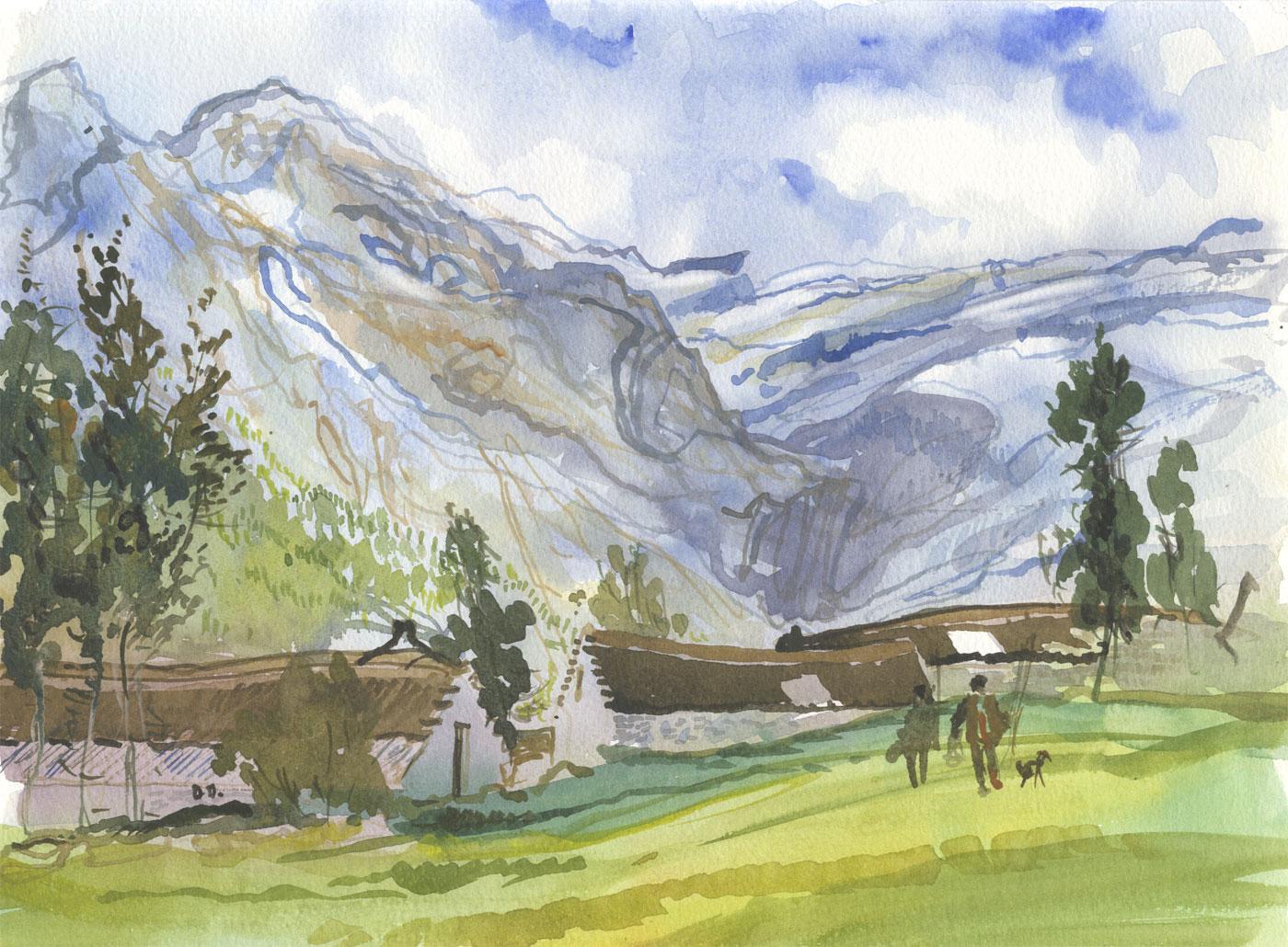 Robert T. Blayney (1929-2016) - Mid 20th Century Watercolour, Hiking