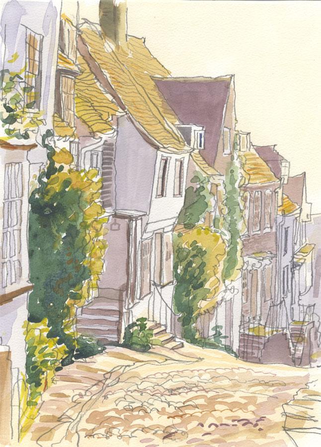 Robert T. Blayney (1929-2016) - Mid 20th Century Watercolour, Street View