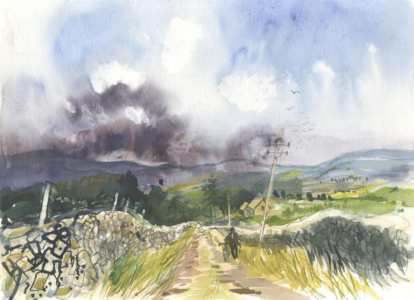 Robert T. Blayney (1929-2016) - Mid 20th Century Watercolour, Storm Arriving