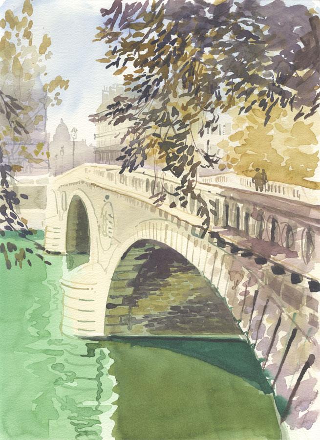 Robert T. Blayney (1929-2016) - Mid 20th Century Watercolour, Bridge View
