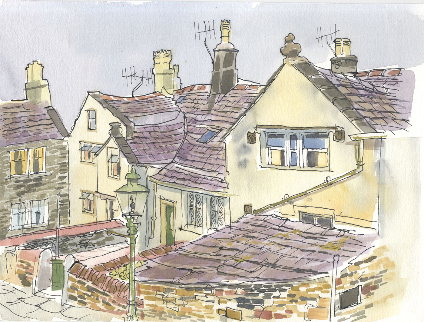 Robert T. Blayney (1929-2016) - Mid 20th Century Watercolour, House View