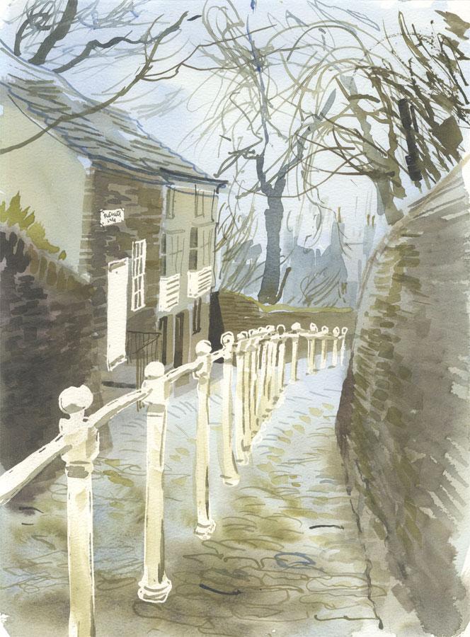 Robert T. Blayney (1929-2016) - Mid 20th Century Watercolour, Lane View