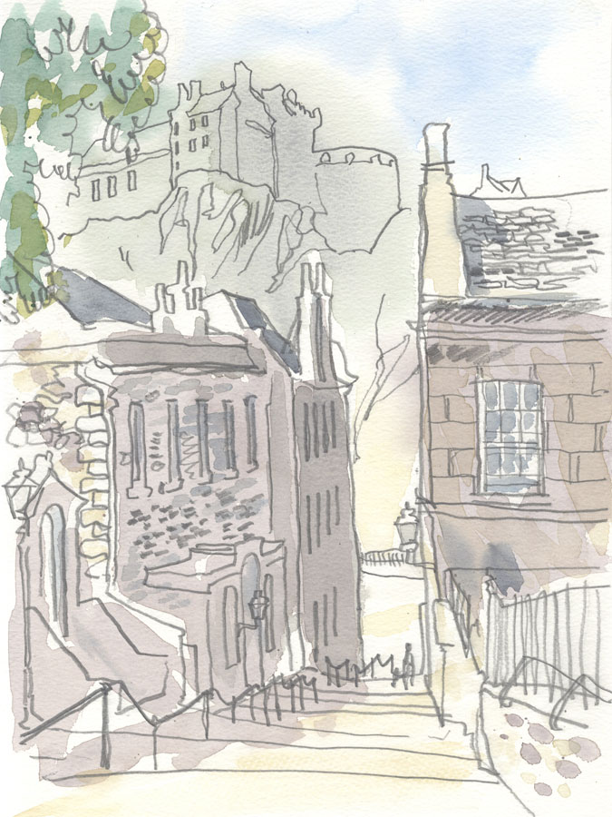 Robert T. Blayney (1929-2016) - Mid 20th Century Watercolour, Street Steps